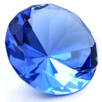 A Picture of a Shiny Sapphire